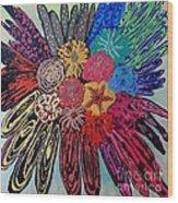 Flowers Burst By Jasna Gopic Wood Print