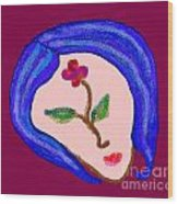 Flowerwoman Wood Print