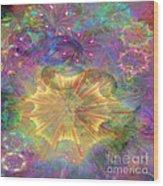 Flowerworks - Square Version Wood Print