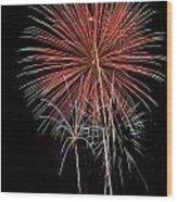 Flowery Sparks Wood Print