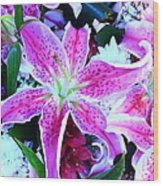 Flowerz2 Wood Print