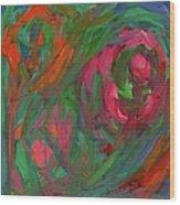 Flowing Color Wood Print