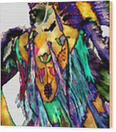 Flowing Feathers Wood Print