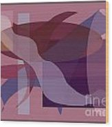 Flowing Geometry1 Wood Print by Meenal C