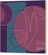 Flowing Geometry3 Wood Print by Meenal C