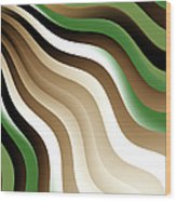 Flowing Graphic Wood Print