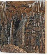 Flowing Metal. Florida Caverns. Wood Print