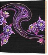 Flowing Purple Velvet 2 Wood Print