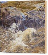 Flowing River Rapids Wood Print