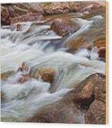 Flowing St Vrian Creek   Wood Print
