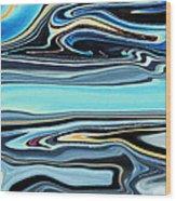Flowing Tide Wood Print