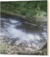 Flowing Water Wood Print