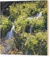Flowing Water On Falling Lakes Of Plitvice Wood Print