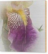 Fl.purple4 Wood Print