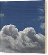 Fluffy Clouds 1 Wood Print