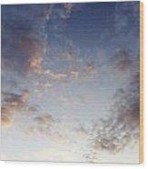 Fluffy Clouds Wood Print