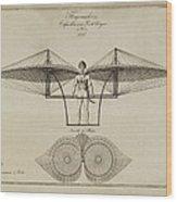 Flugmashine Patent 1807 Wood Print