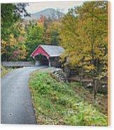 Flume Gorge Covered Bridge Wood Print