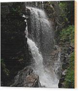 Flume Gorge Waterfall Nh Wood Print