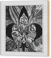 Flure De Lis Wood Print