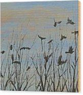 Flurry Wood Print