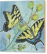 Flutterbys Wood Print