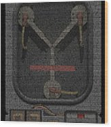 Flux Capacitor Mosaic Wood Print