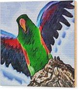 Fly And Shine Wood Print