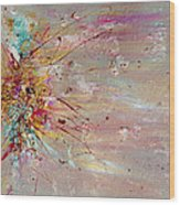Fly Away Abstract Painting Wood Print