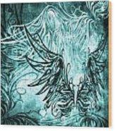 Fly Away Gothic Aqua Wood Print