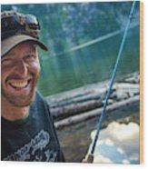 Fly Fishing Emerald Lake, Weminuche Wood Print