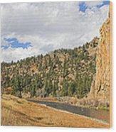 Fly Fishing The Big Hole River Montana Wood Print