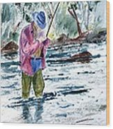 Fly Fishing The South Platte River Wood Print