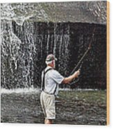 Fly Fishing Without Flies Wood Print