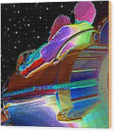 Fly Me To The Moon Wood Print
