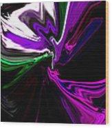 Purple Rain Homage To Prince Original Abstract Art Painting Wood Print