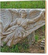 Flying Angel In Ephesus-turkey Wood Print