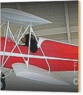Flying Bear  Wood Print