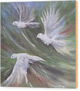 Flying Birds Wood Print by Paula Marsh