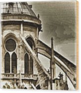 Flying Buttress At Notre Dame Wood Print