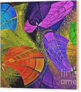 Flying Colors Wood Print