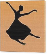 Flying Dancer Wood Print