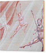 Flying Dancers  Wood Print