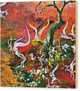 Flying Fairies Wood Print by Michelle Dommer