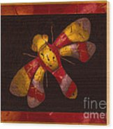 Flying Fantasies Of Light Abstract Painting Wood Print