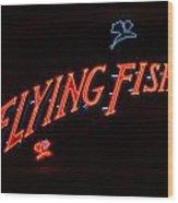 Flying Fish Wood Print