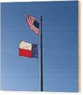 Flying Flags Wood Print