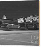 Flying Fortress On The Ramp Wood Print