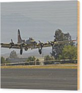 Flying Fortress Wood Print