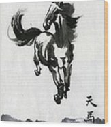 Flying Horse Wood Print